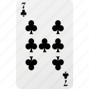 card, club, hazard, playing cards, poker, seven icon