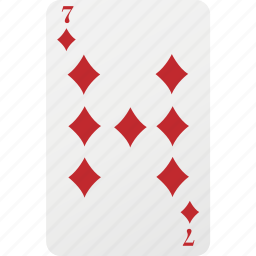 card, diamond, hazard, playing cards, poker, seven icon