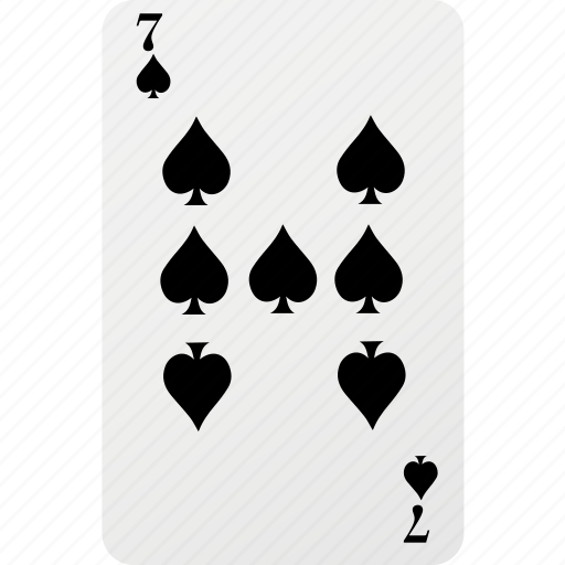 card, hazard, playing cards, poker, seven, spad icon