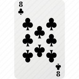 card, club, eight, hazard, playing cards, poker icon