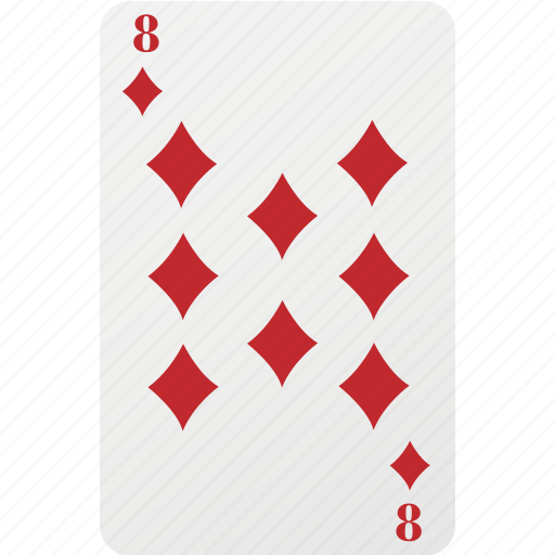 card, diamond, eight, hazard, playing cards, poker icon