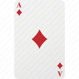 ace, card, diamond, hazard, playing card, poker icon