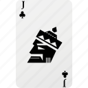 card, club, hazard, jack, palying card, poker icon
