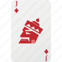 card, diamond, hazard, jack, playing cards, poker icon