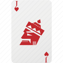 card, hazard, heart, jack, playing cards, poker icon