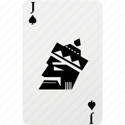 card, hazard, jack, playing cards, poker, spad icon