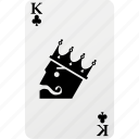 card, club, hazard, king, king club, playing cards, poker icon
