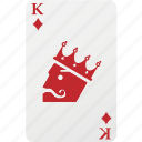 card, diamond, hazard, king, king diamond, playing cards icon