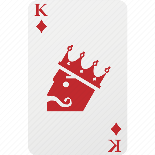 card, diamond, hazard, king, king diamond, playing cards icon