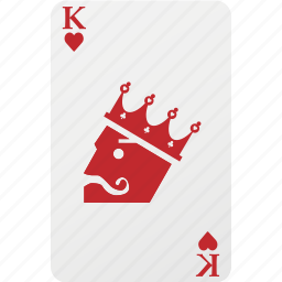 card, hazard, heart, king, king heart, playing cards, poker icon