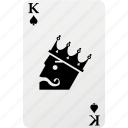 card, hazard, king, king spad, playing cards, poker, spad icon