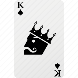 card, hazard, king, king spad, playing cards, poker, spad icon