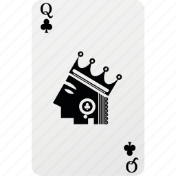 card, club, hazard, playing cards, poker, queen icon
