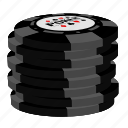 grey chips, poker, stack icon