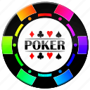 chip, color poker chip, poker icon