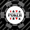 chip, grey poker chip, poker icon