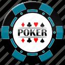 chip, light blue poker chip, poker icon