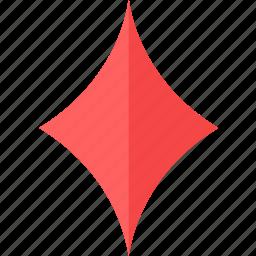 card, colour, diamond, poker icon