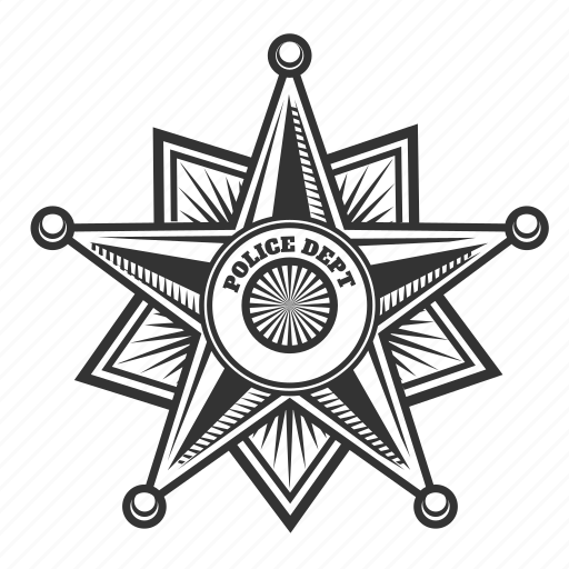 badge, cop, detective, officer, police, security, service icon