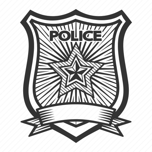 badge, order, police, security icon