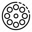 ammo, ammunition, drum, hand, logo, pistol, silhouette icon