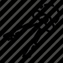 computer, hand, handcuff, key, police, prison, silhouette icon