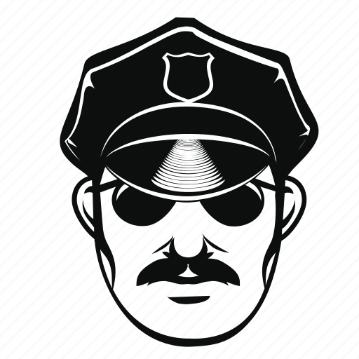 cop, criminal, hat, man, officer, police icon