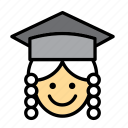 cap, cap and gown, court, judge, justice, law, magistrate icon