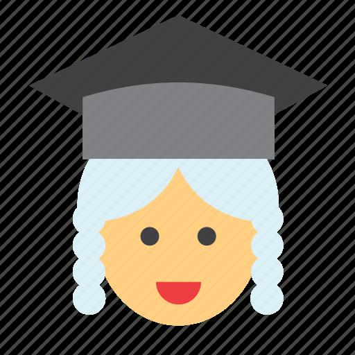 cap, cap and gown, court, judge, judge's cap, justice, magistrate icon