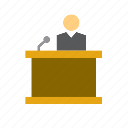 court, justice, lectern, man, people, reading stand, stand icon