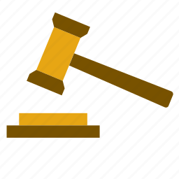 court, gavel, hammer, judge, justice, law, magistrate icon