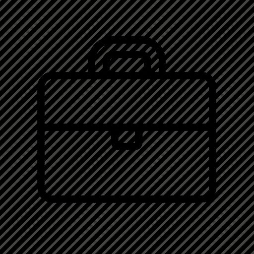 accessory, attache case, briefcase, carrying case, overnight case icon