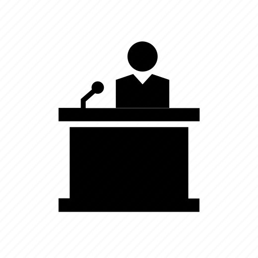 court, justice, law, lectern, people, reading stand, stand icon