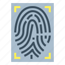 evidence, fingerprint, identification, recognition icon