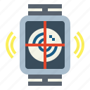 area, radar, technology, watch icon