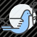 baptism, bird, christians, dove, noah, olive branch, peace icon