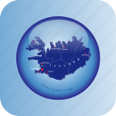 country, europa, europe, iceland, map, maps, north europe icon