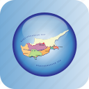 country, cyprus, europa, europe, map, maps icon