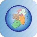 europe, european, ireland, map, maps, poitical regions, regions icon