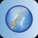europe, european, map, maps, norway, political regions, regions icon