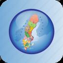 europe, european, map, maps, political regions, regions, sweden icon