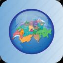 europe, european, map, maps, political regions, regions, switzerland icon