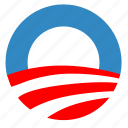 label, obama, political, sign, usa, vote icon