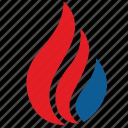 america, democratic, fire, flame, usa icon