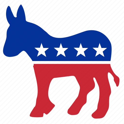 colors, democratic, donkey, national, politic, stars icon
