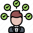 candidate, check, politician, politics, speech, vote, voting icon