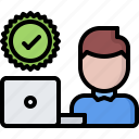 check, computer, laptop, politics, vote, voter, voting icon