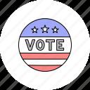 badge, election, vote, voting