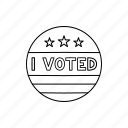badge, election, i voted, vote