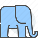 conservatism, elephant, free market, national defense, political, republican party, right icon